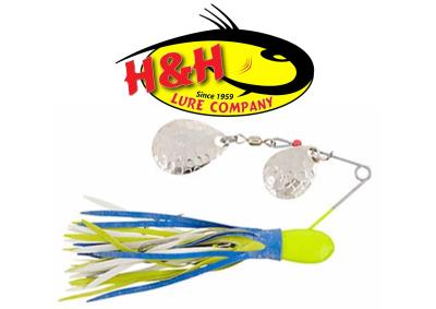 CUCCHIAINI Spinner bait H&H LURE - Straight Hook Double Spin Oz. 3/8 [ originale americano ]
